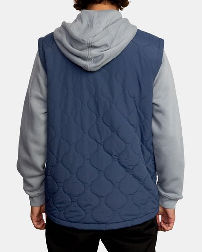 2 Grant Hooded Puffer Jacket Blue AVYFT00205 RVCA