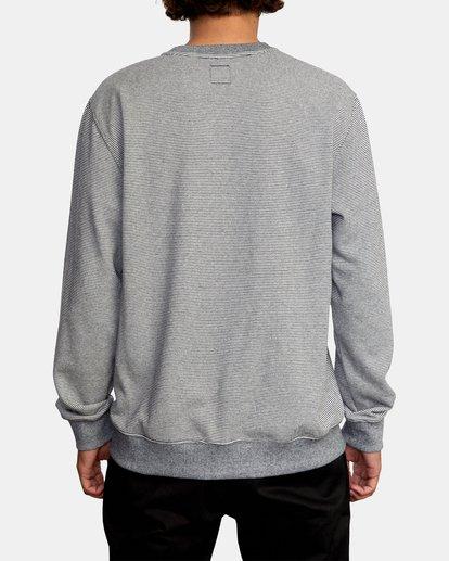 2 Porter Crewneck Sweatshirt Silver AVYFT00208 RVCA