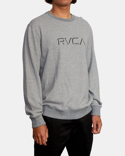 5 Porter Crewneck Sweatshirt Silver AVYFT00208 RVCA