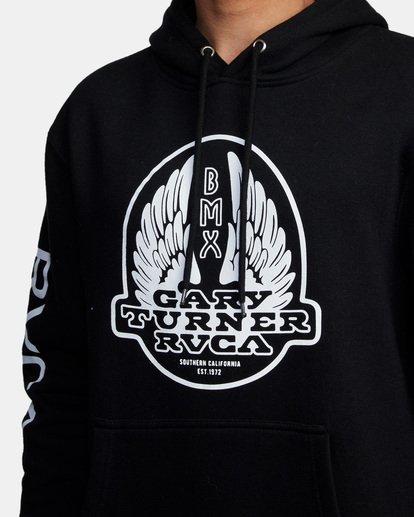 3 Gary Turner Hoodie Black AVYFT00229 RVCA