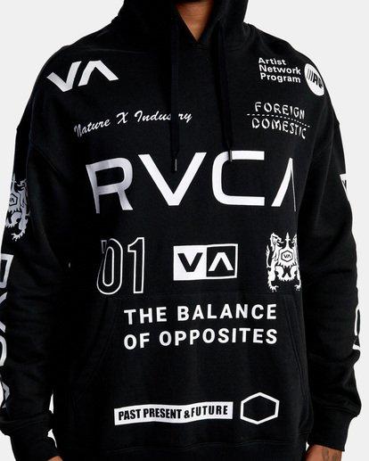 2 All Brand Sport Workout Hoodie Black AVYFT00251 RVCA