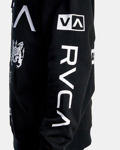 10 All Brand Sport Workout Hoodie Black AVYFT00251 RVCA