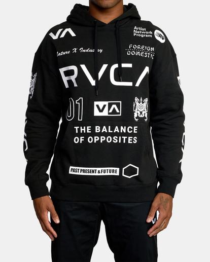 0 All Brand Sport Workout Hoodie Black AVYFT00251 RVCA