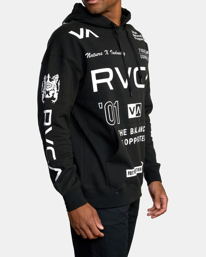 5 All Brand Sport Workout Hoodie Black AVYFT00251 RVCA
