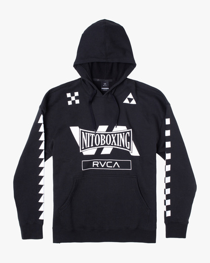 4 NITOBOXING CHECK HOODIE Black AVYFT00259 RVCA
