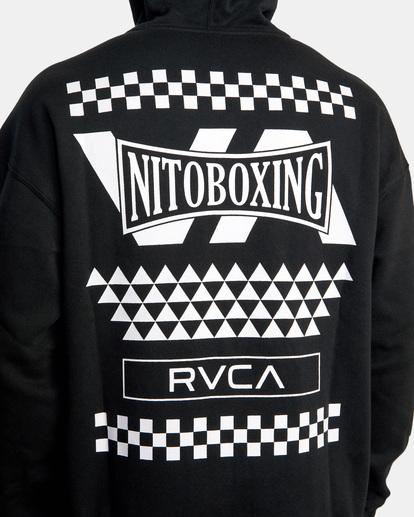 2 NITOBOXING CHECK HOODIE Black AVYFT00259 RVCA