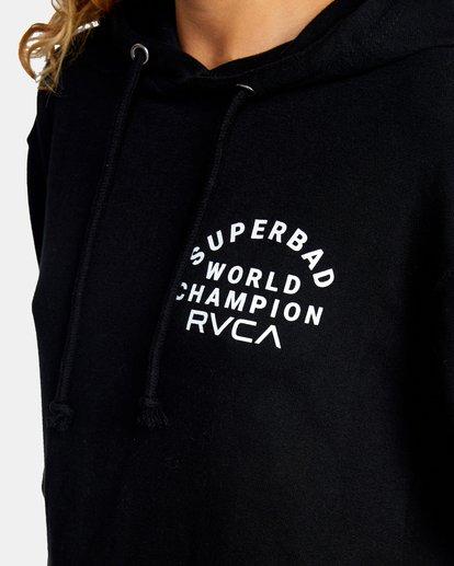 4 Seniesa Estrada | VA Sport x Seniesa Superbad Pullover Hoodie Black AVYFT00262 RVCA