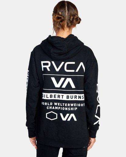 3 Gilbert Burns | VA Sport x Gilbert Burns Hoodie Black AVYFT00263 RVCA