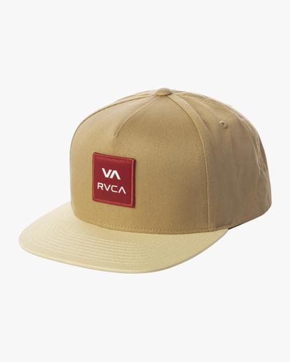 0 RVCA Square Snapback Hat Multicolor AVYHA00152 RVCA