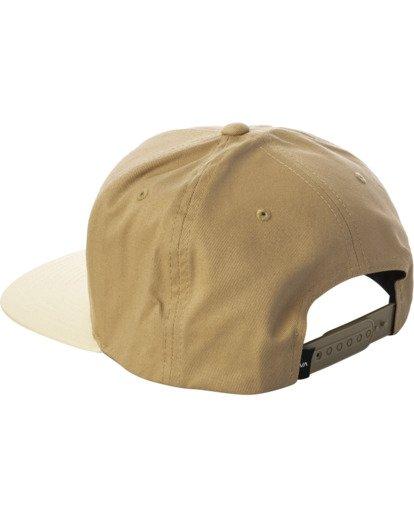 2 RVCA Square Snapback Hat Multicolor AVYHA00152 RVCA