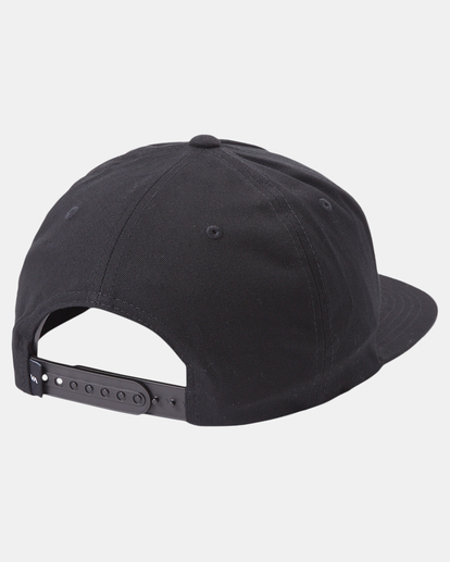 3 RVCA SQUARE SNAPBACK HAT Black AVYHA00152 RVCA