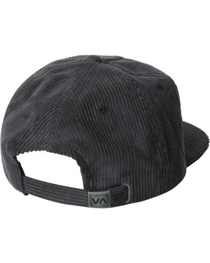 1 Curren Caples   Tonally Corduroy Claspback Hat Black AVYHA00198 RVCA