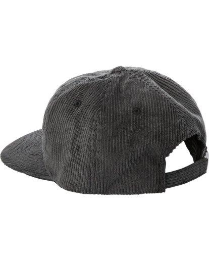 3 Curren Caples   Tonally Corduroy Claspback Hat Black AVYHA00198 RVCA