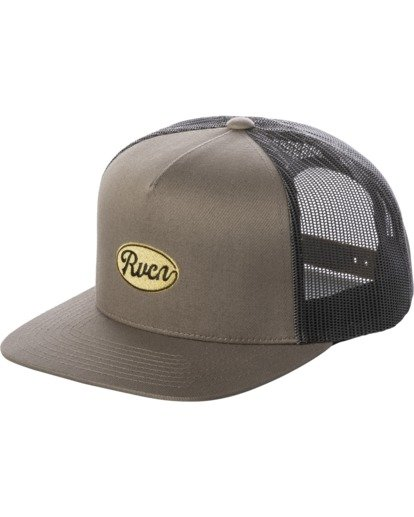 0 Drill Trucker Hat Grey AVYHA00201 RVCA