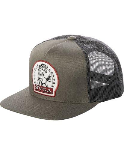 0 Stallion Trucker Hat Green AVYHA00203 RVCA