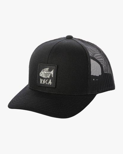 0 Ben Horton | Dead Fish Trucker II Hat Black AVYHA00205 RVCA