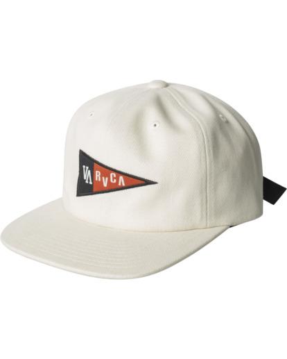 0 Pennant Claspback Hat White AVYHA00221 RVCA