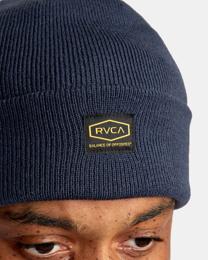 2 Americana Knit Beanie Blue AVYHA00248 RVCA