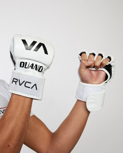 0 RVCA OUANO MMA GLOVES White AVYHN00104 RVCA