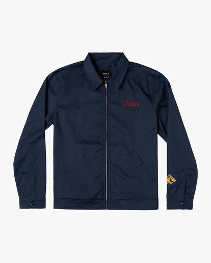 0 Evan Mock | W 16th St. Service Jacket Blue AVYJK00125 RVCA