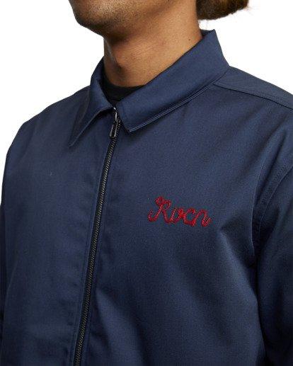 3 Evan Mock | W 16th St. Service Jacket Blue AVYJK00125 RVCA