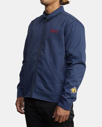 4 Evan Mock | W 16th St. Service Jacket Blue AVYJK00125 RVCA