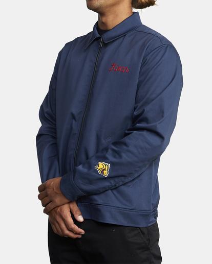 5 Evan Mock | W 16th St. Service Jacket Blue AVYJK00125 RVCA
