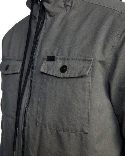 3 Hooded Bomber 2 Jacket Green AVYJK00141 RVCA