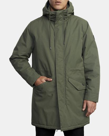 0 Standard Patrol Hooded Parka Jacket Green AVYJK00143 RVCA