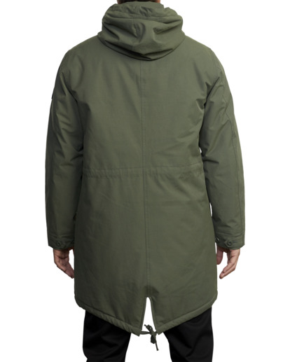 2 Standard Patrol Hooded Parka Jacket Green AVYJK00143 RVCA