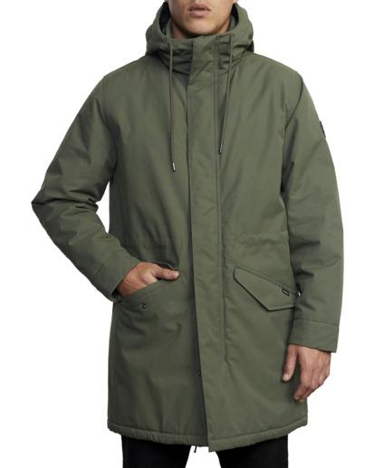 1 Standard Patrol Hooded Parka Jacket Green AVYJK00143 RVCA