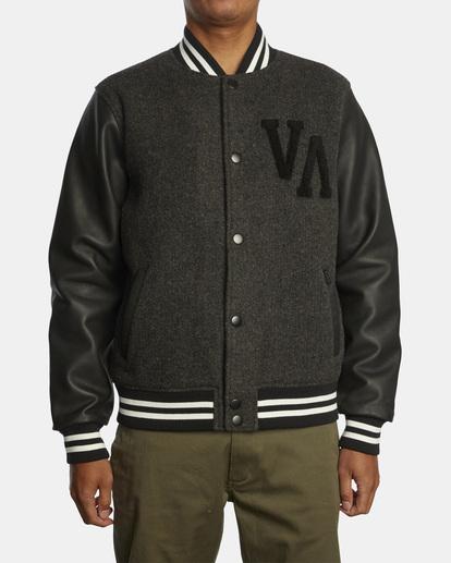 1 Junior Varsity Letterman Jacket Orange AVYJK00145 RVCA