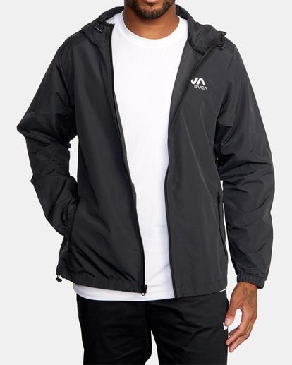 2 Outsider Packable Anorak Jacket Black AVYJK00148 RVCA