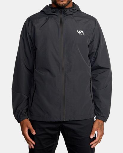 0 Outsider Packable Anorak Jacket Black AVYJK00148 RVCA