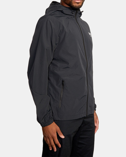 4 Outsider Packable Anorak Jacket Black AVYJK00148 RVCA