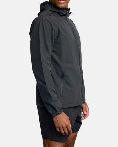 5 Outsider Packable Anorak Jacket Black AVYJK00148 RVCA