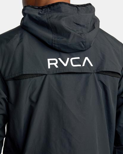 7 Outsider Packable Anorak Jacket Black AVYJK00148 RVCA