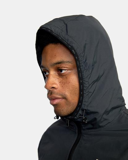 16 Outsider Packable Anorak Jacket Black AVYJK00148 RVCA