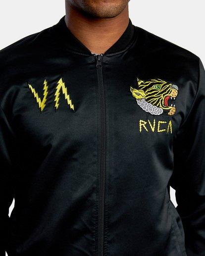 2 Matt Leines   Leines Souvenir Jacket Black AVYJK00151 RVCA