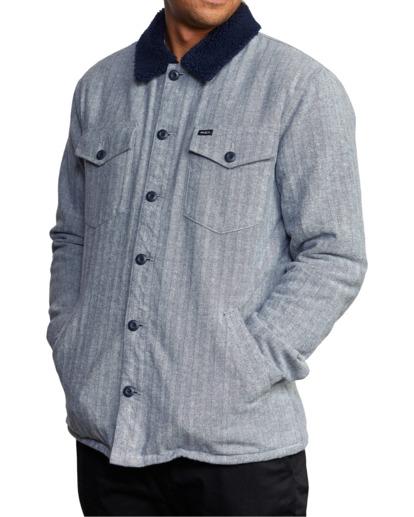4 Benny Shirt Jacket Grey AVYJK00156 RVCA