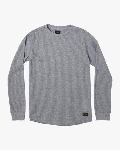 0 Recession | Day Shift Long Sleeve Thermal Shirt Green AVYKT00104 RVCA