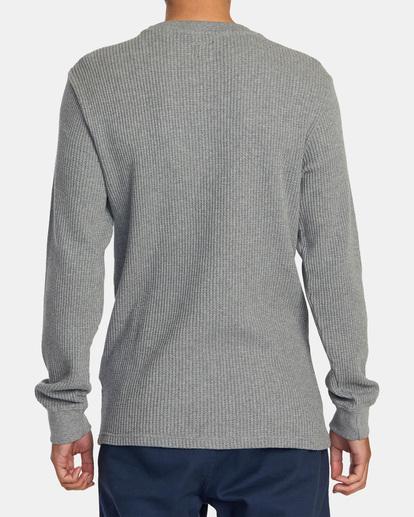 2 Recession | Day Shift Long Sleeve Thermal Shirt Green AVYKT00104 RVCA