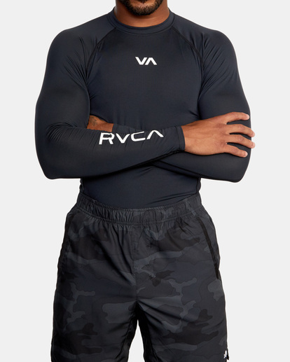 0 SPORT LONG SLEEVE RASHGUARD Black AVYKT00117 RVCA