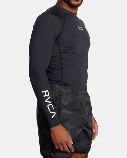 4 SPORT LONG SLEEVE RASHGUARD Black AVYKT00117 RVCA