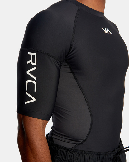 5 COMPRESSION TEE Black AVYKT00122 RVCA