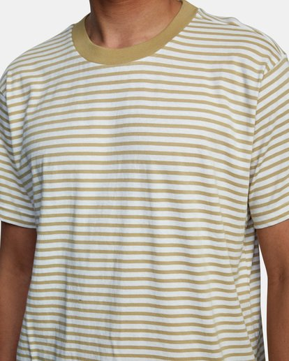 4 Pit Stop Short Sleeve Tee Beige AVYKT00148 RVCA