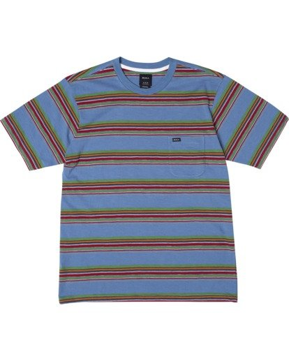 0 El Rosario Stripe Short Sleeve Tee Blue AVYKT00149 RVCA