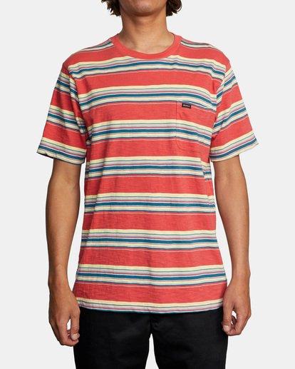 2 El Rosario Stripe Short Sleeve Tee White AVYKT00149 RVCA