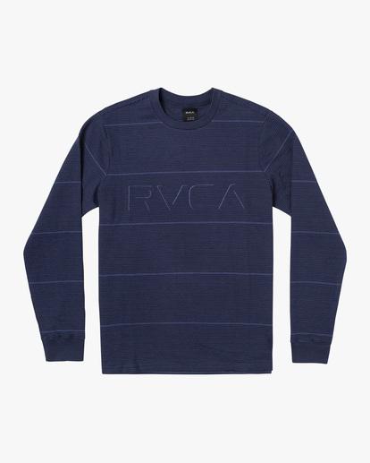 0 Spent Stripe Long Sleeve Tee Blue AVYKT00163 RVCA