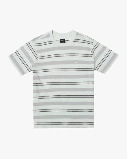 0 Travelers Stripe Short Sleeve Tee Green AVYKT00168 RVCA